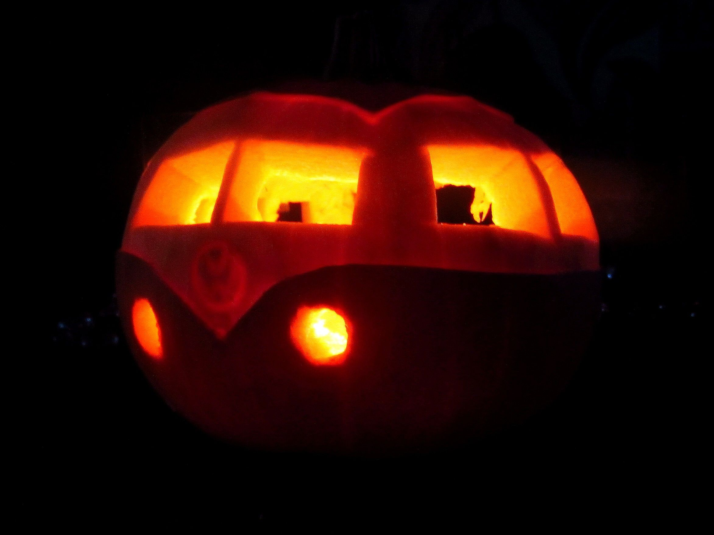 Pumpkin Carving, Vw Campervan By @Val Smith )