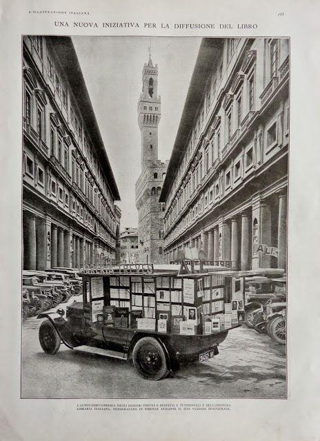 Librería sobre ruedas. Florencia 1922.