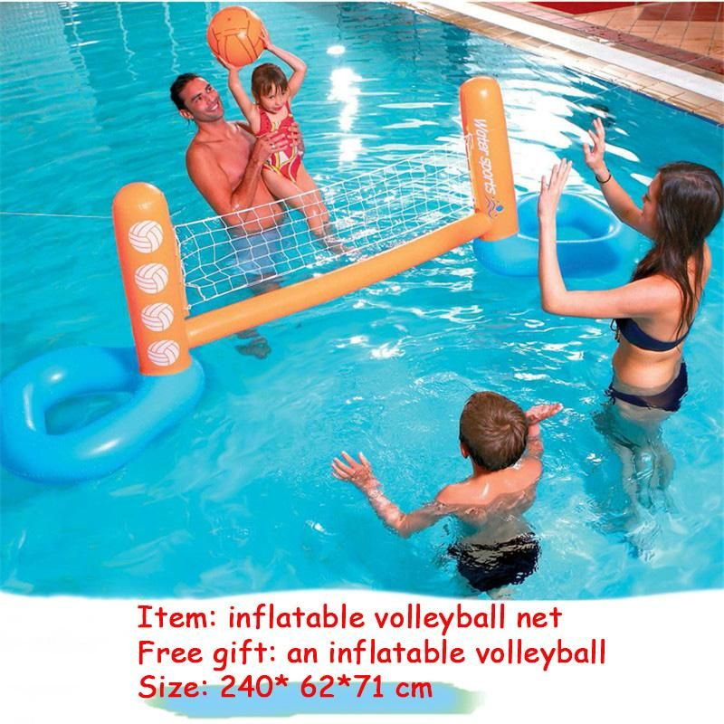 Giant Inflatable Football Goal Volleyball Game Swimming Pool Float Water Sports Floating Island Mattr Swimming Pool Toys Inflatable Pool Floats Inflatable Pool