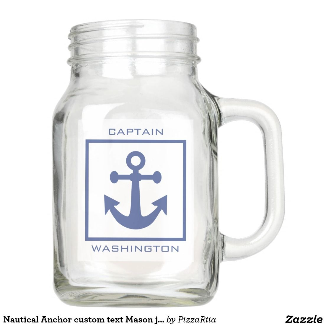 Nautical Anchor custom text Mason jars Mason Jar | Mason Jars ...