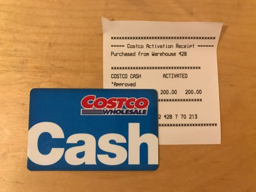 Coupons Giftcards 200 Costco Cash Card Gift Card No