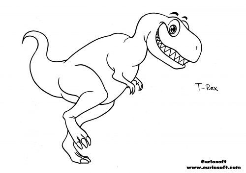 t-rex-coloring-pages | coloring pages for adult | Pinterest ...