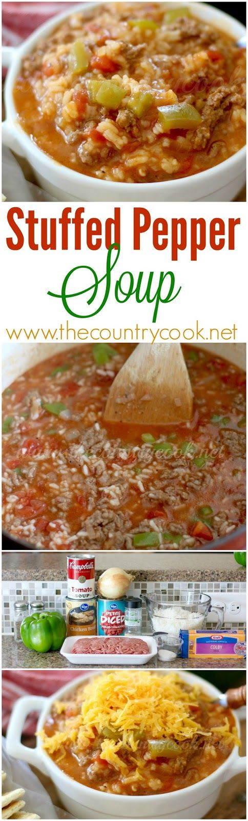 The Best Stuffed Pepper Soup Video The Country Cook Recipe Stuffed Peppers Soup Recipes Stuffed Pepper Soup