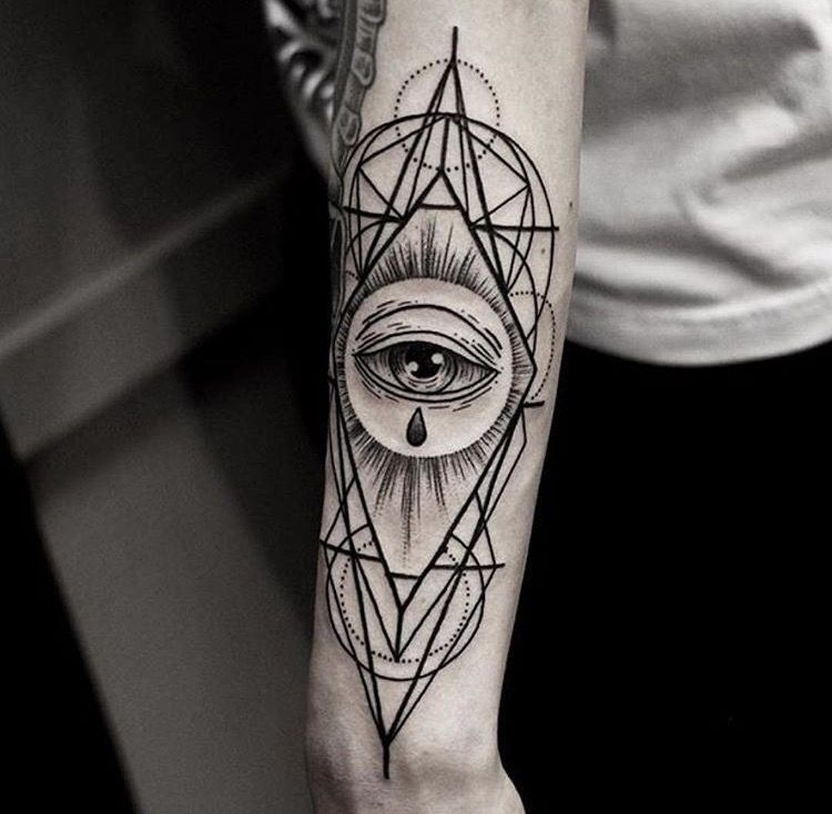 Sacred Geometry All Seeing Eye Geometric Eye Tattoo Sleeve Tattoos All Seeing Eye Tattoo