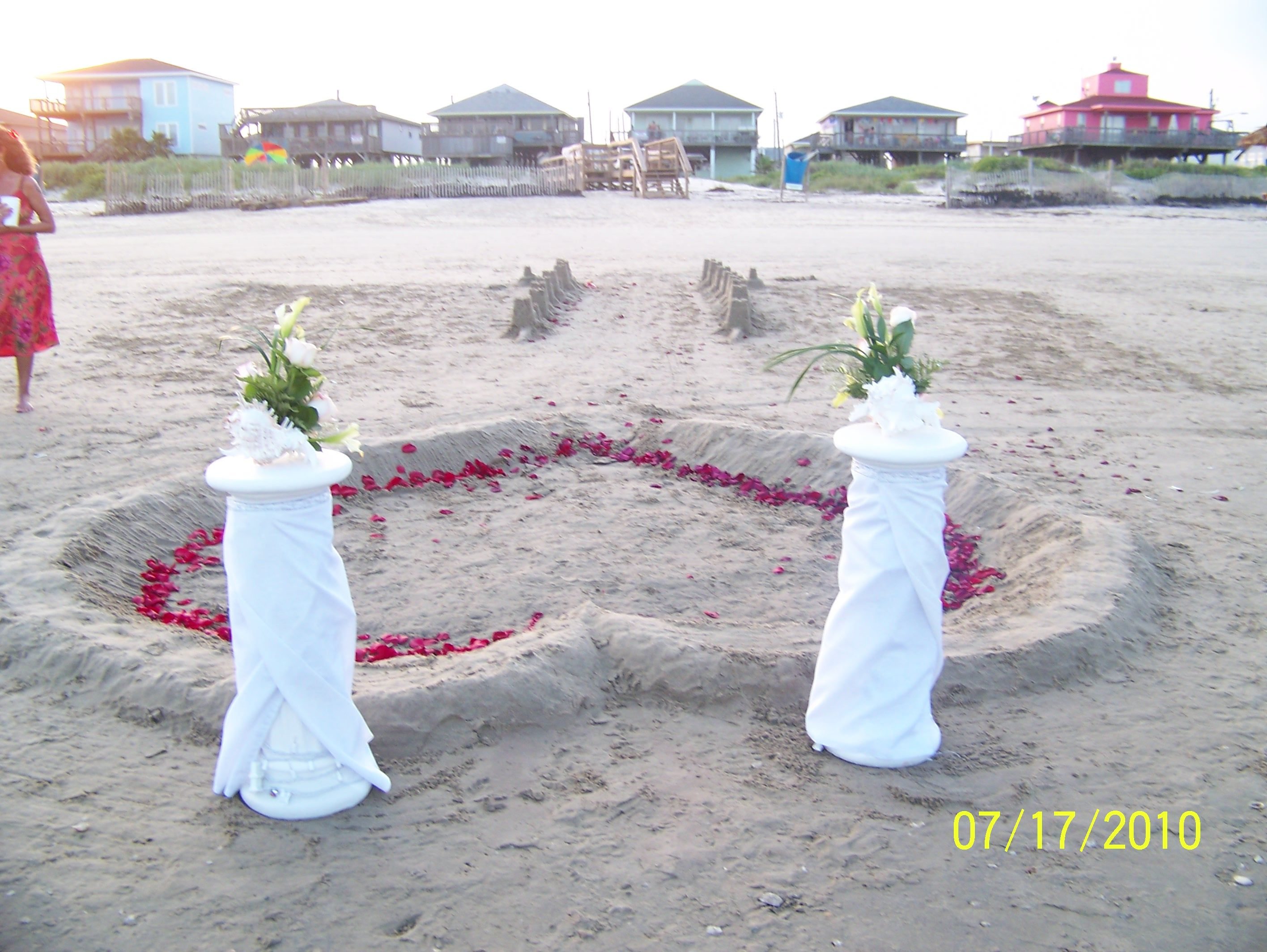 Galveston Tx Beach Weddings Surfside Texas Front House