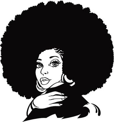 Clip Art Natural Hair Clipart Black Girl Magic Art Female Art Silhouette Clip Art