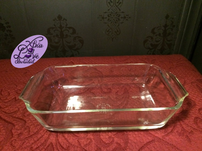 Vintage Anchor Hocking Baking Dish Clear Glass Baking Dish