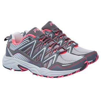 Fila Ladies' Trail Running Shoe, Gray and Pink Trail  Trail