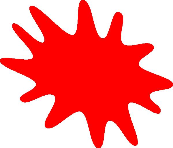 Red Paint Splatter Clip Art At Vector Clip Art Png Clip Art Red Paint Free Clip Art
