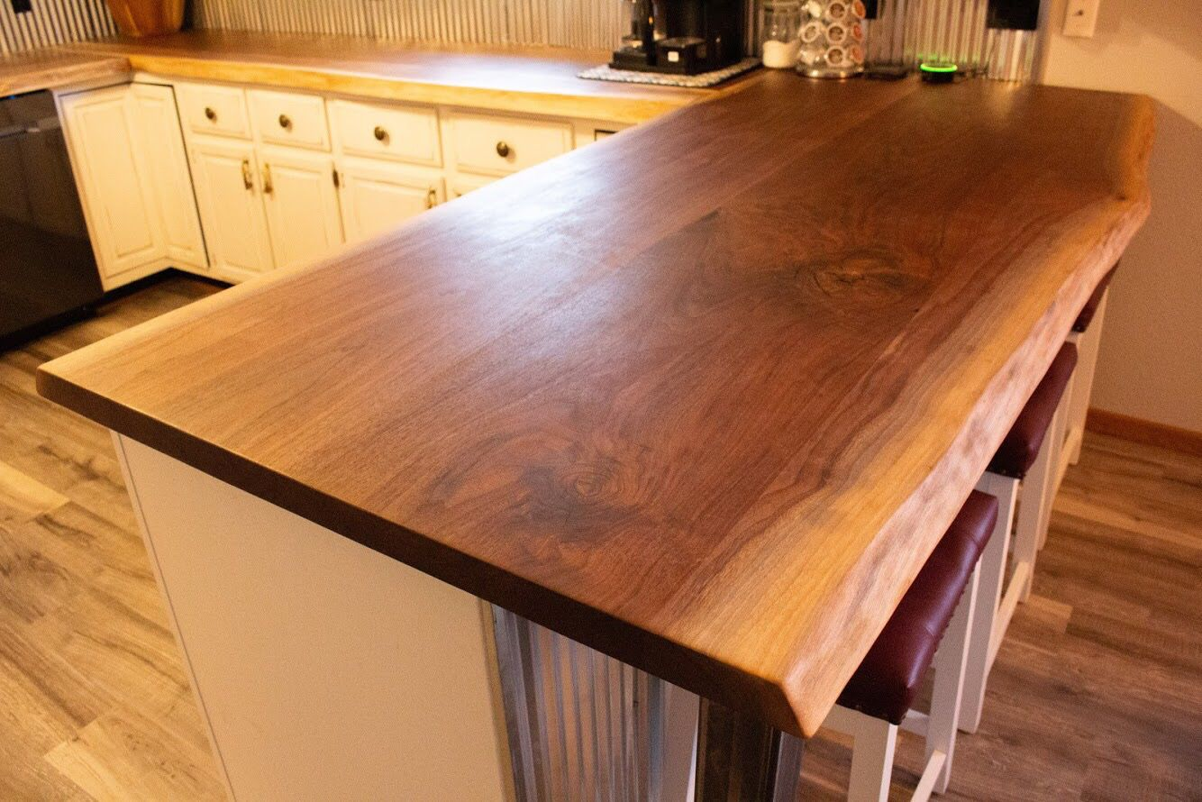 Custom Countertops Using Premium Hardwood Slabs These Are Live