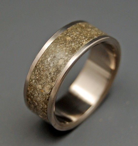 Butch Style Concrete Ring Elisabeth Give me ring sometime