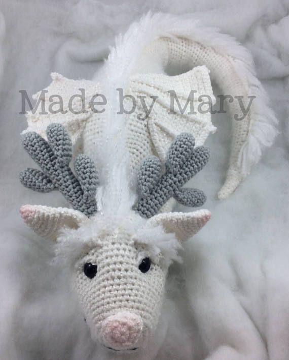 PDF Pattern: Winter Dragon **Crochet pattern only, not actual doll ...