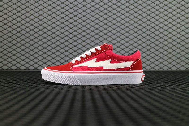 Revenge X Storm Vans Old Skool Classic Red White Skate Shoe ...