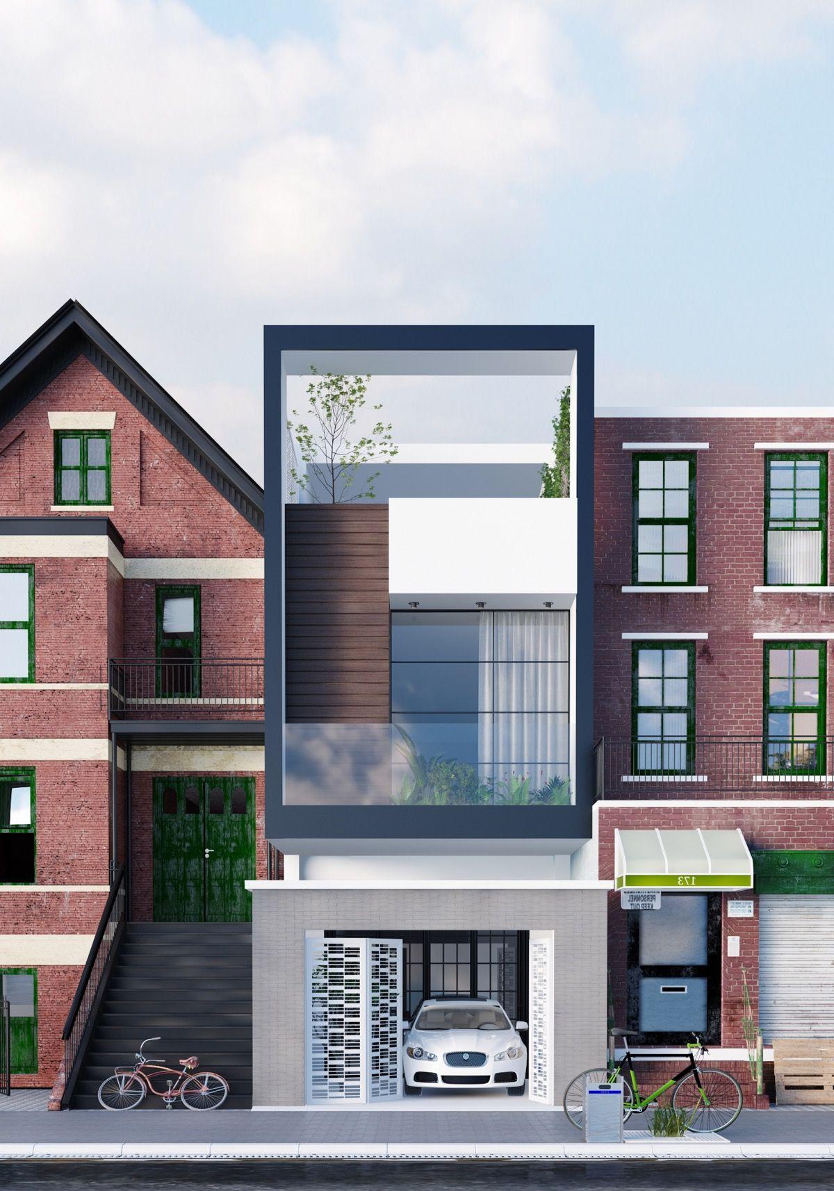 49 Most Popular Modern Dream House Exterior Design Ideas 3: 50 Narrow Lot Houses That Transform A Skinny Exterior Into Something Special