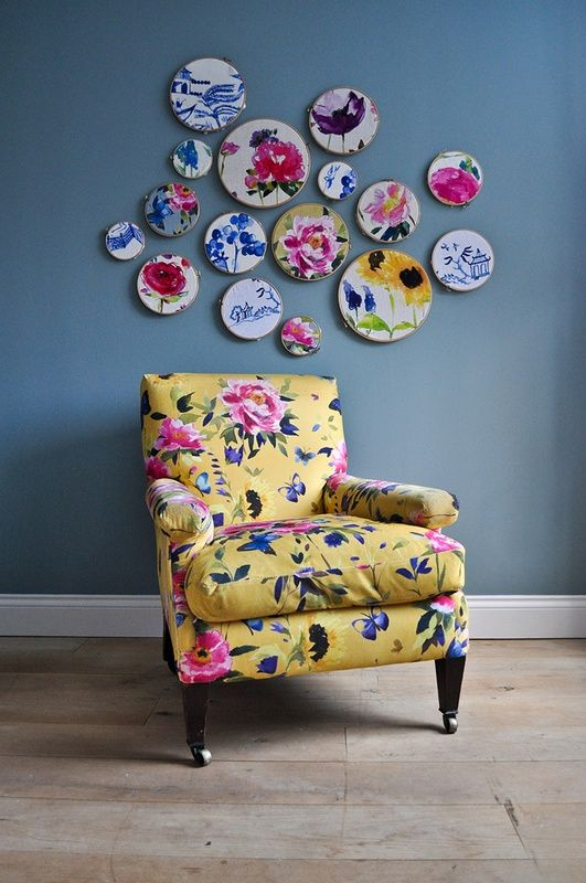 Elegant Butterfly Saffron By Bluebellgray Available From James Dunlop Textiles