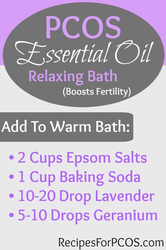 Essential Oil Bath for Relaxation and a Boost in Fertility. Specifically for women with PCOS!