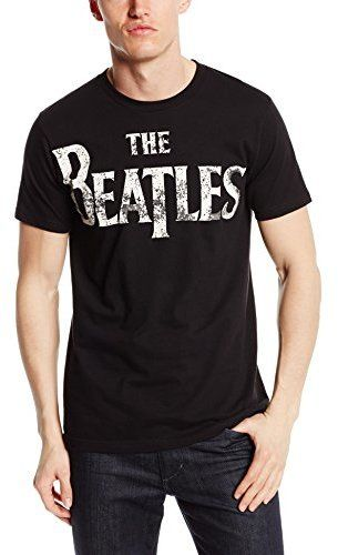 Bravado Men s The Beatles Vintage Logo Black T-Shirt  70937c44a82c3
