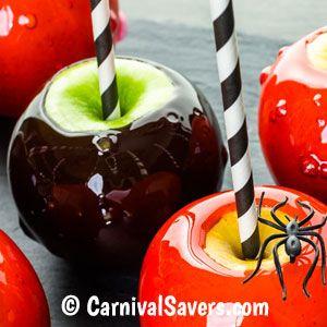 Black Candy Apples on a Stick