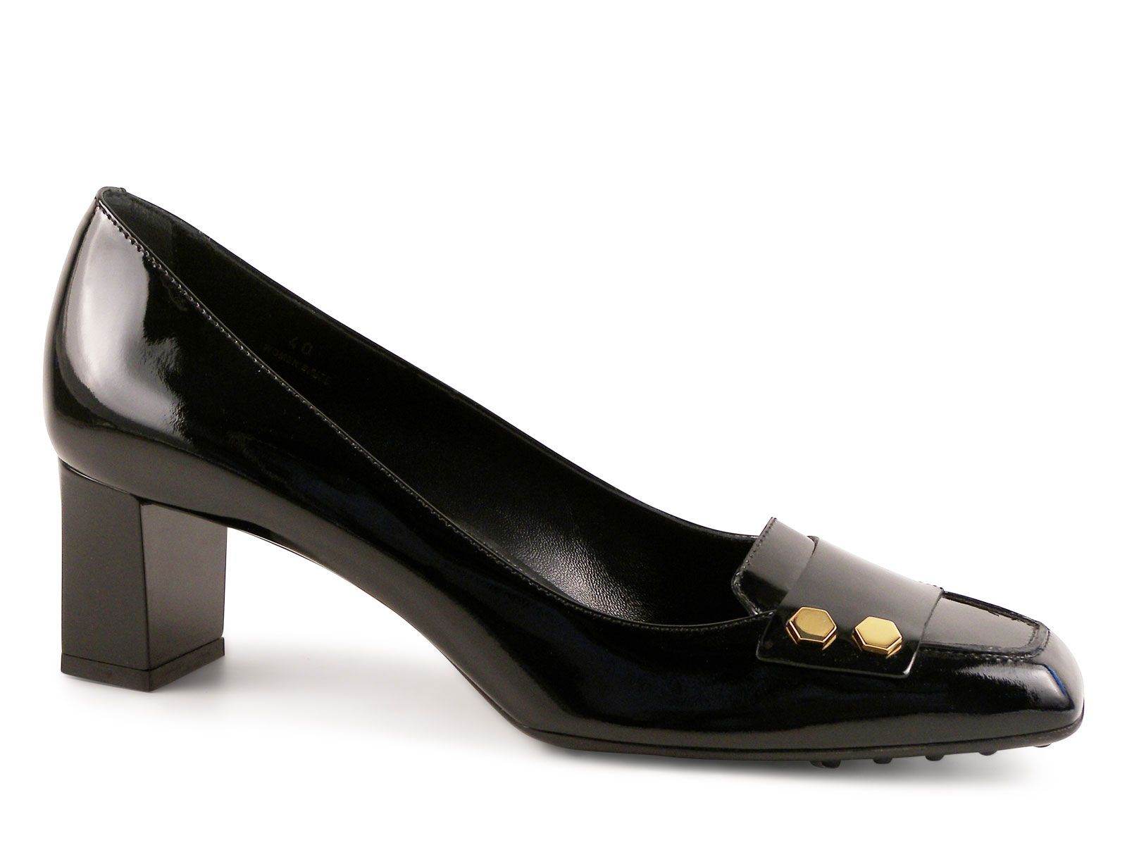 Man women · Tod's heels pumps in black Patent Leather ...
