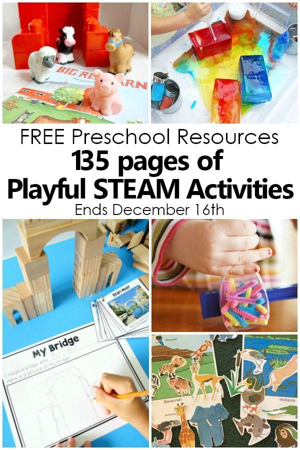 2018 STEAM Freebie Bundle | Preschool science activities ...