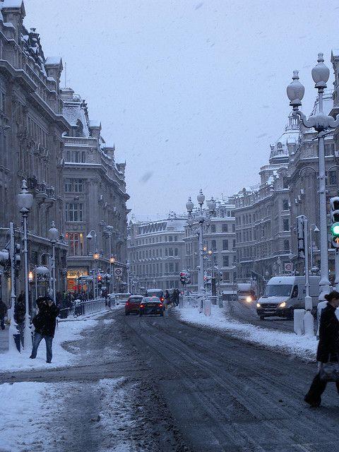 snow on Regent Street