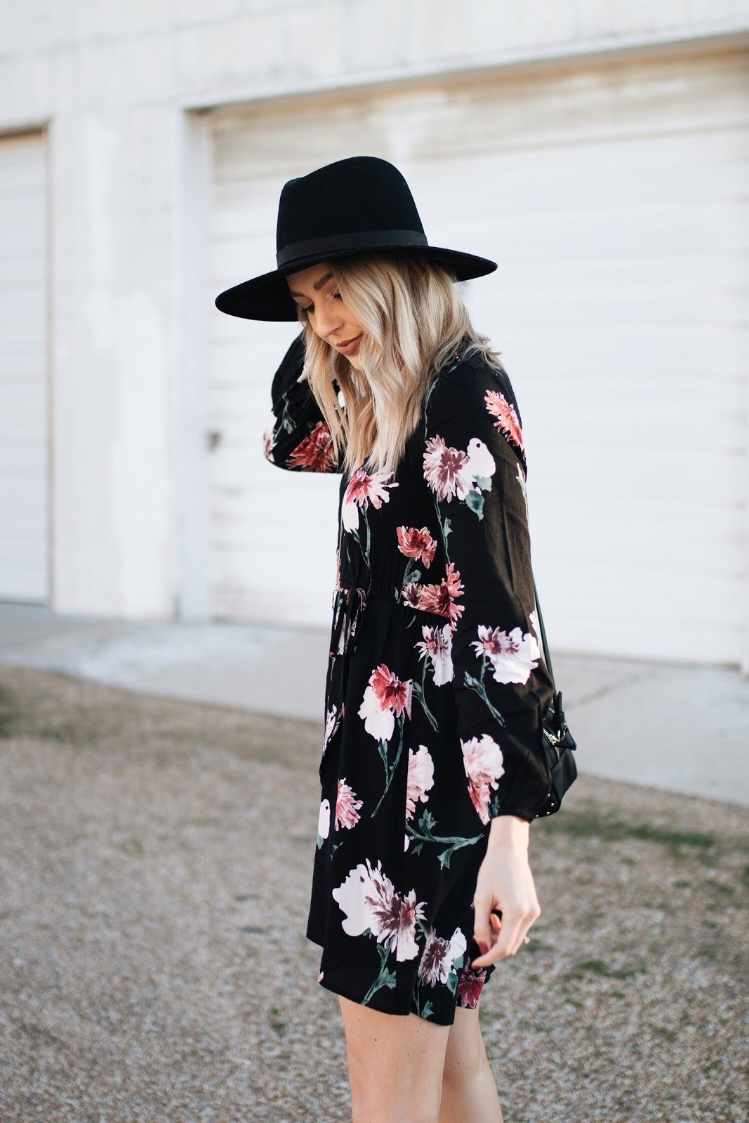 Long sleeve floral dress love lenore midwest blogger love