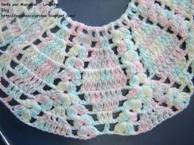 Agulhas Coloridas Croche e Trico  PAP do Casaquinho de bebe croche ... cb700a2caf0
