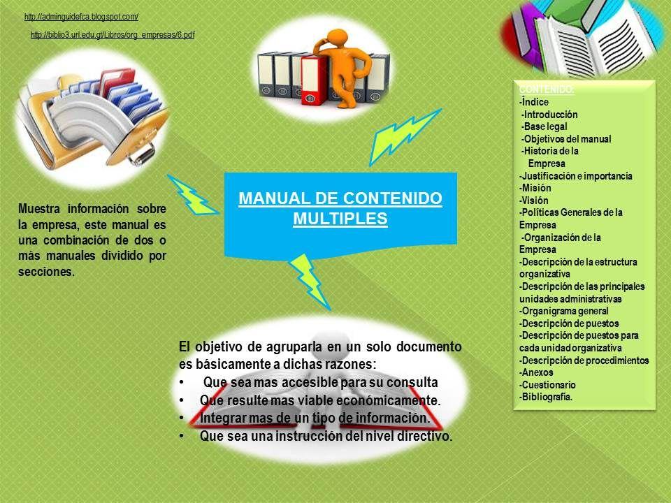 Por Su Contenido Estructura Organizativa Administrativas