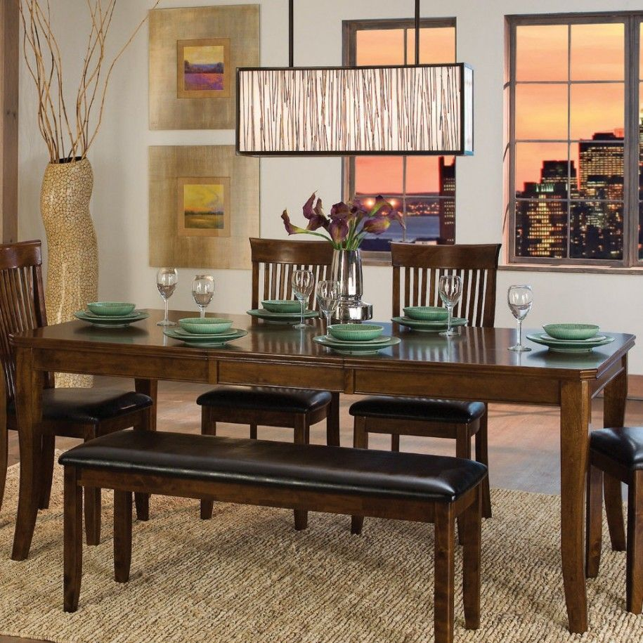 Perfect dining room tables with benches creates homey feelings