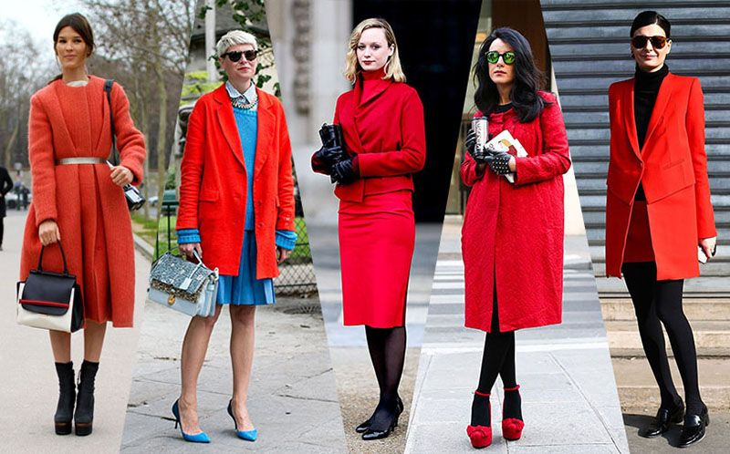 what to wear with red coat