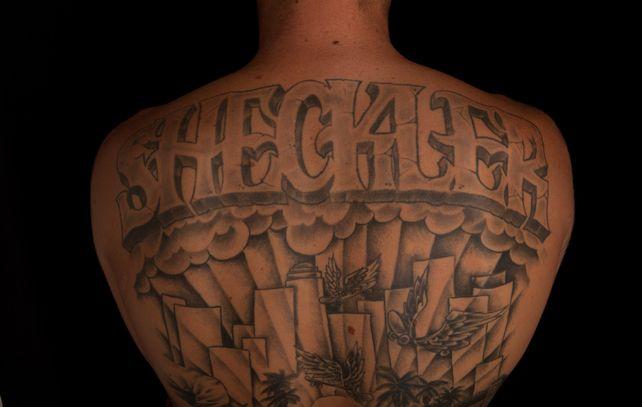 Ryan Sheckler Back Tattoo