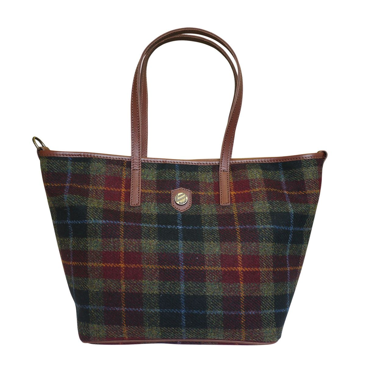 Attavanti - Bonfanti Leather and Harris Tweed Tote Shopper Handbag - Green and Red Tartan, £195.00 (http://www.attavanti.com/luxury-italian-leather-designer-handbags/bonfanti-leather-and-harris-tweed-tote-shopper-handbag-green-and-red-tartan/)