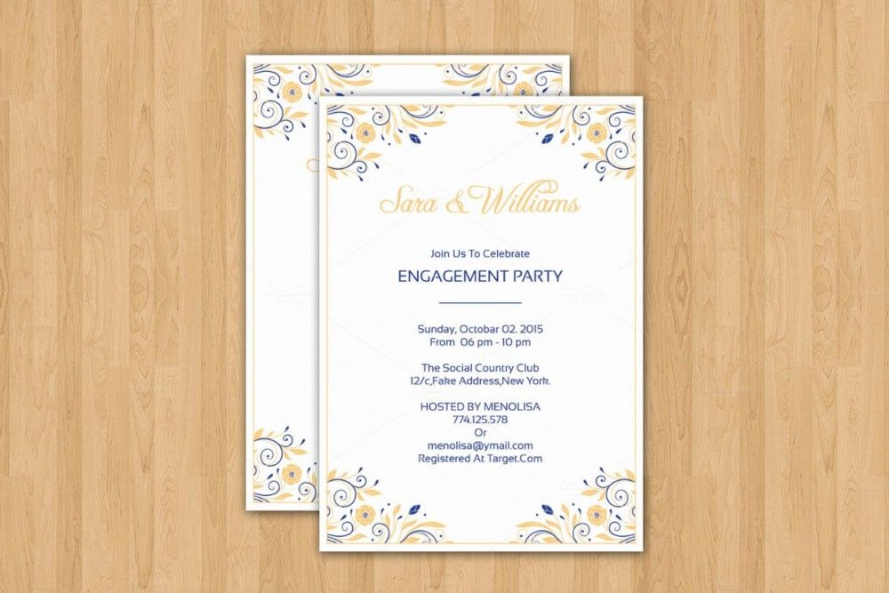 20+ Engagement Invitation Template Word, InDesign and PSD Format - free party invitation template word