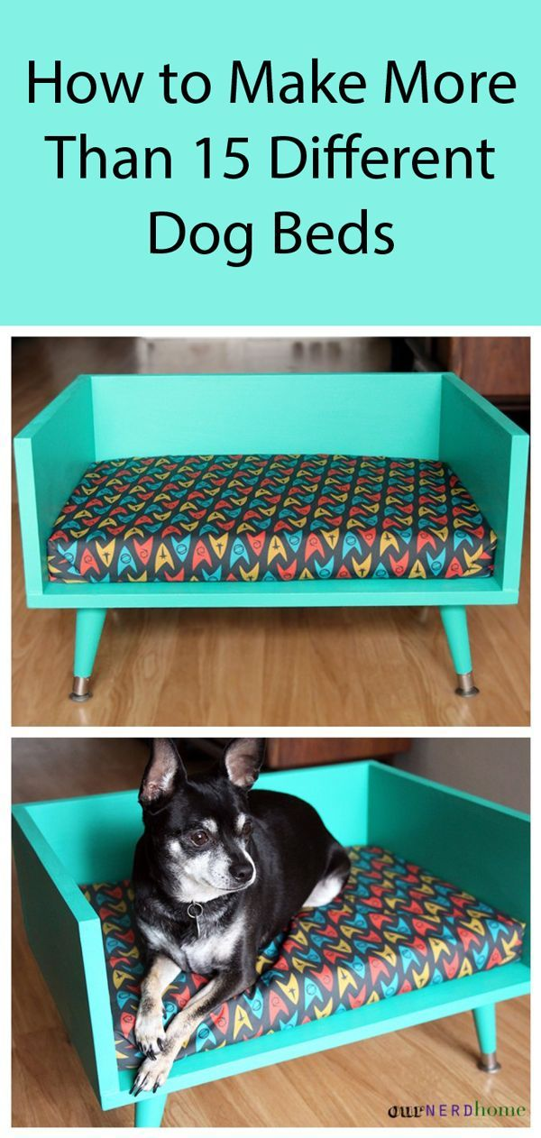 15 Designs for DIY Dog Beds Follow Step By Step