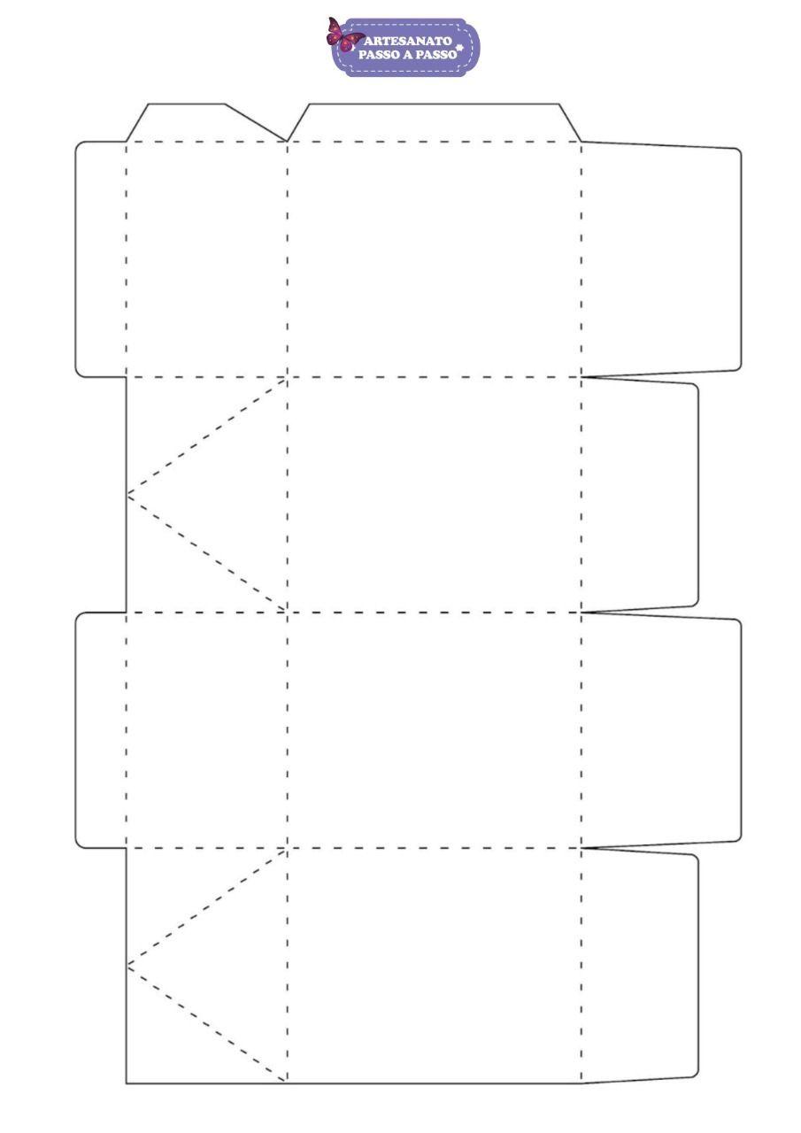 Molde De Caixa De Papel Para Imprimir 6 Modelos Prontos Moldes
