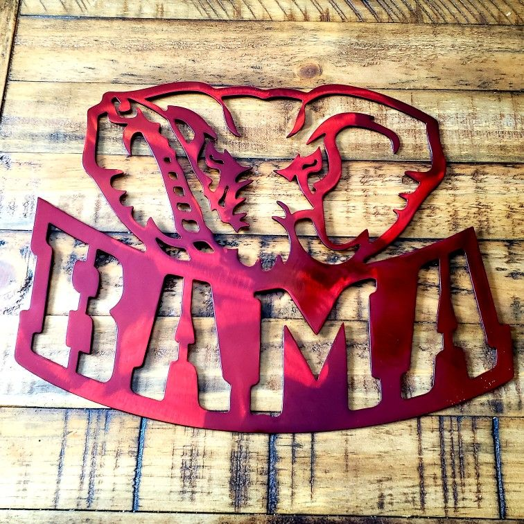 Alabama Crimson Tide Metal Art Wall Hanger Custom Metal Art
