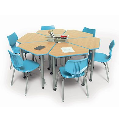 Uxl diamond desks i love this for table clusters or for for Tables and desks in the classroom
