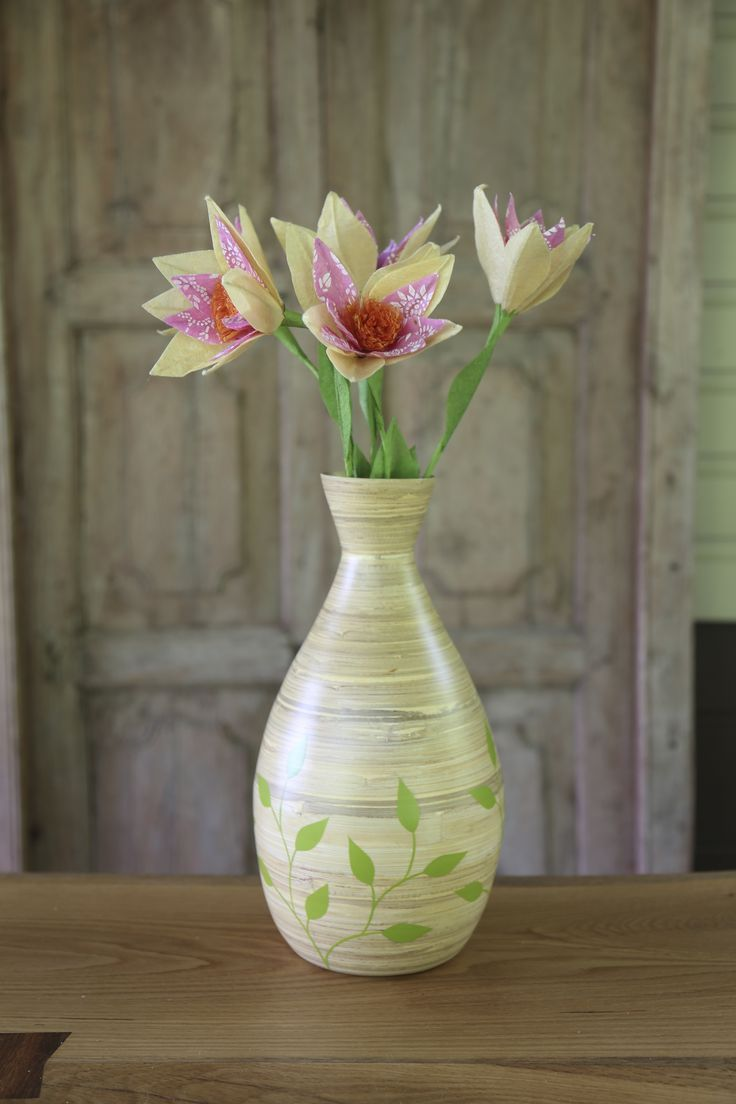 coiled bamboo garden vase fair trade handmade in vietnam sustainable ethical home decor - Bamboo Garden 2016