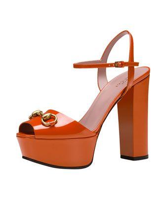 277a68eb61f5 Claudie Patent Platform Sandal