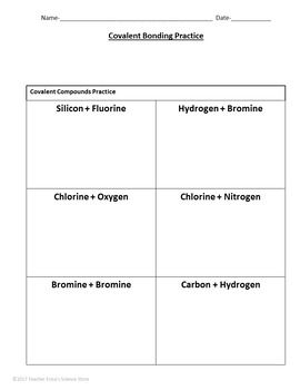 Covalent Bonding Practice Worksheet | Worksheets, Graphic ...