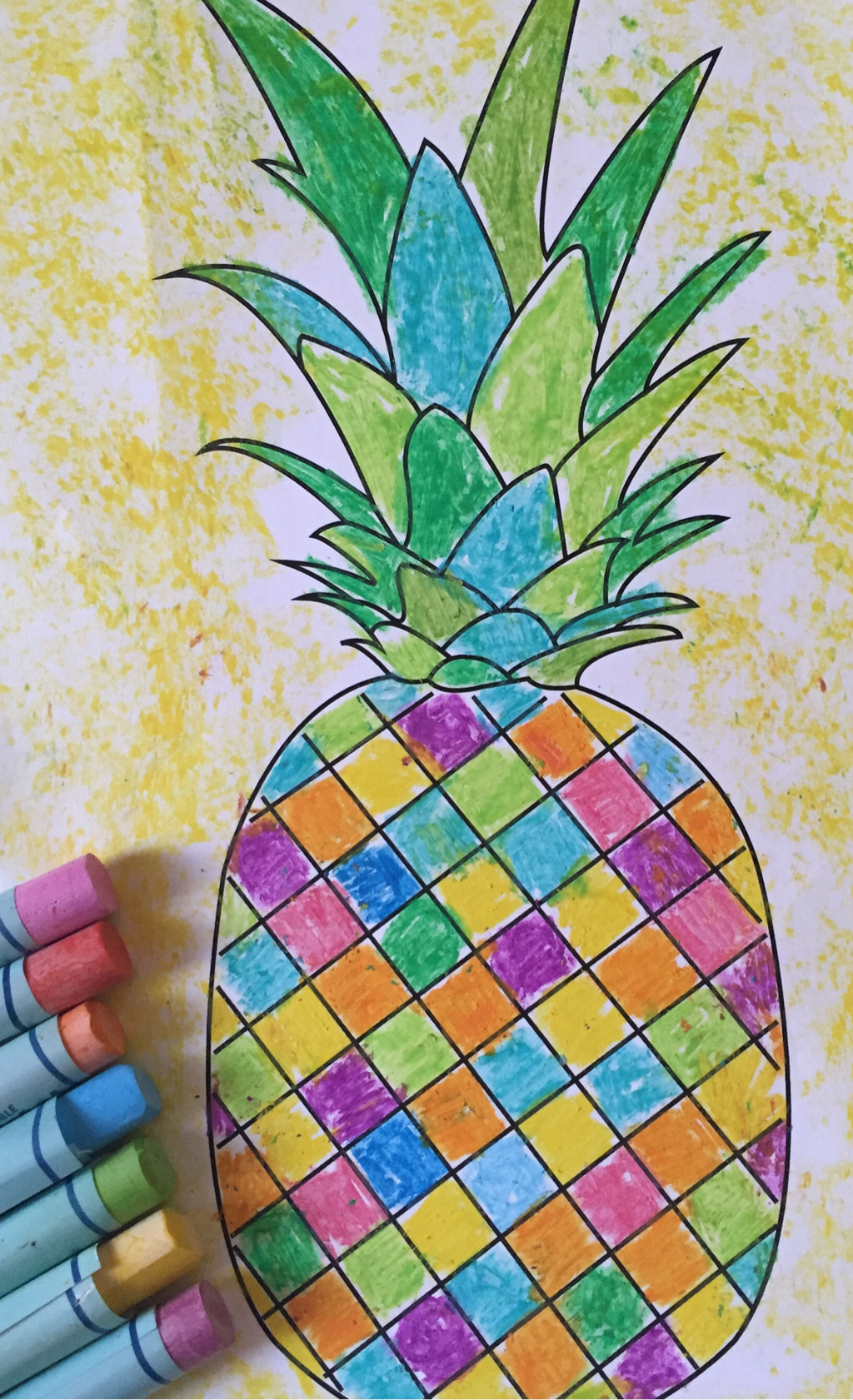 Tropical pineapple free printable template, experiment ...