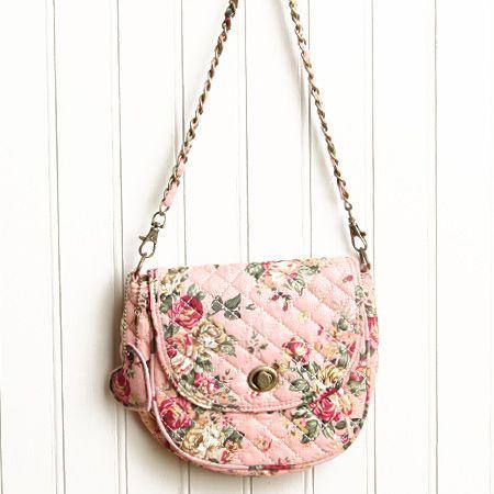 yorkshire estate floral cross body bag in pink
