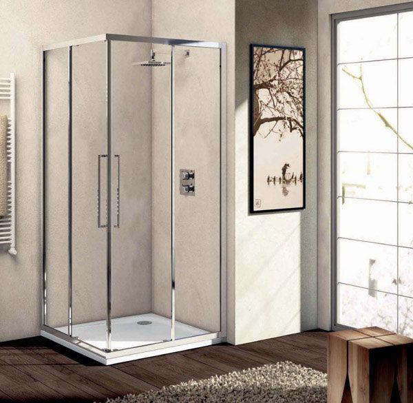 Ideal standard box doccia kubo ad angolo composto da ante - Box doccia misure standard ...