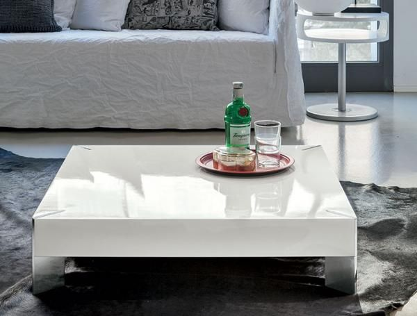 Modern Target Point Pegasus Square High Gloss White Coffee Table