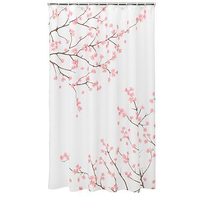 Home Classics® Cherry Blossom Fabric Shower Curtain, Pink ...