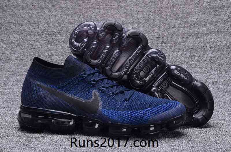 Nike Air VaporMax Flyknit Men Dark Blue Black