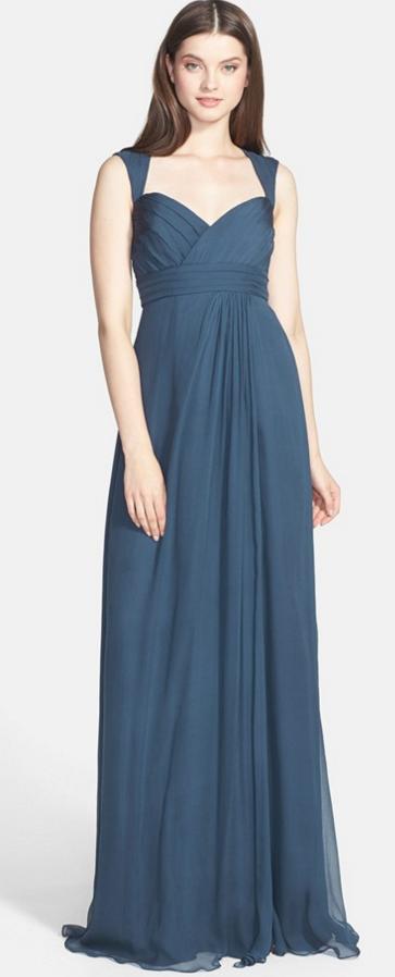 Crinkled Silk Chiffon Bridesmaid Dress by Amsale | Creative Wedding ...