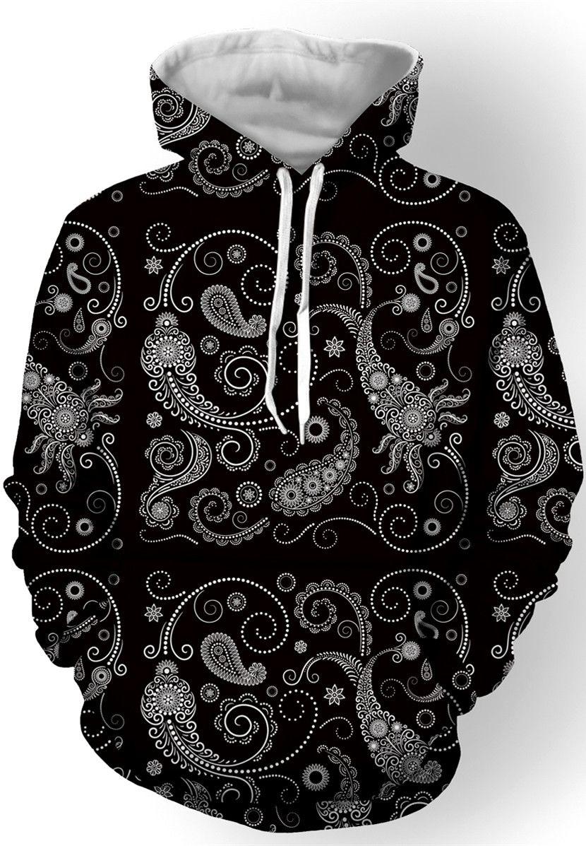 5e6966ef1f6  22.05 Hooded Paisley Printed Long Sleeve Hoodie