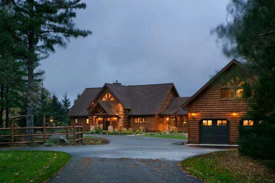 Beautiful Log homes, Log home living, Home