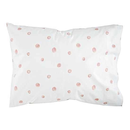 Washed Dot Pillowcase | Dot sheet set